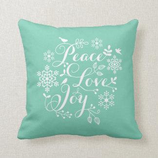 Joy Christmas Throw Pillows : Love Peace Joy Christmas Pillows - Decorative & Throw Pillows Zazzle