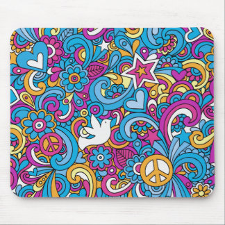 Peace, Love & Joy Mouse Pad