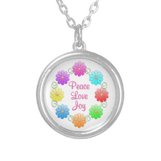 Peace Love Joy Personalized Necklace