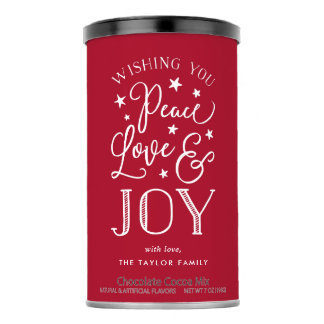 Peace, Love & Joy   Personalized Holiday Hot Chocolate Drink Mix