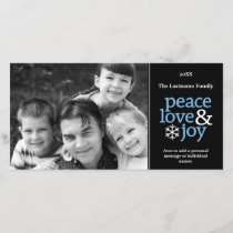 Peace Love & Joy - Photo Card