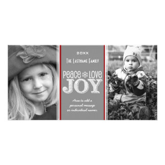 Peace Love Joy - Photo Card