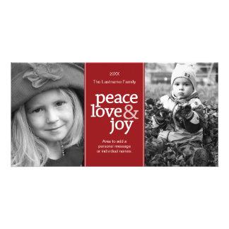 Peace Love & Joy - Photo Card