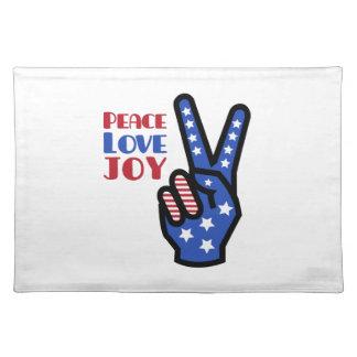 Peace Love Joy Placemats