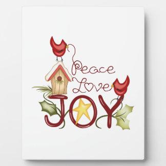 PEACE LOVE JOY PLAQUES