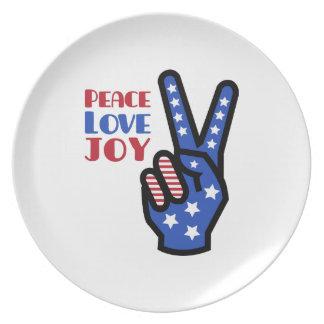 Peace Love Joy Plates
