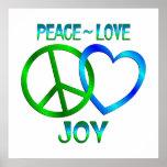 Peace Love JOY Poster