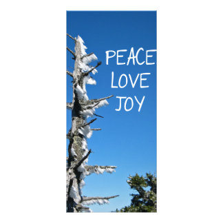 Peace Love Joy - Simple Holiday Wish Bookmark Rack Cards