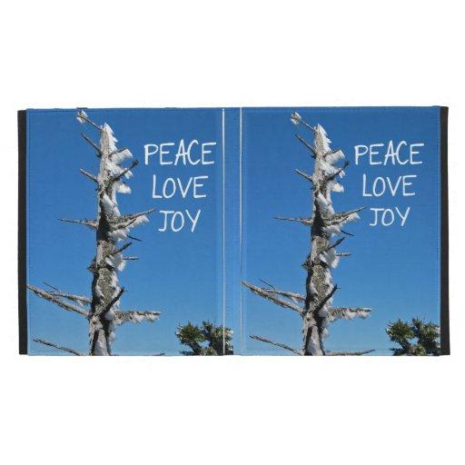 Peace Love Joy - Simple Holiday Wish iPad Folio Case