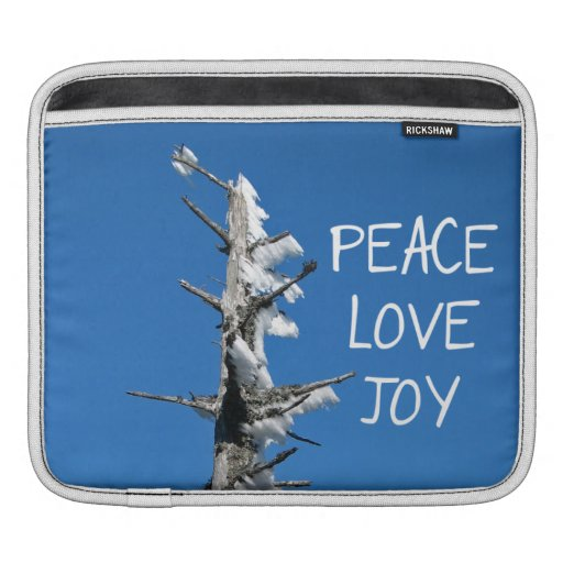 Peace Love Joy - Simple Holiday Wish Sleeves For iPads