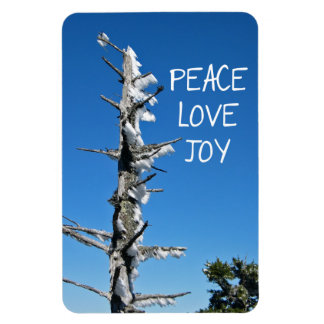 Peace Love Joy - Simple Holiday Wish Magnet