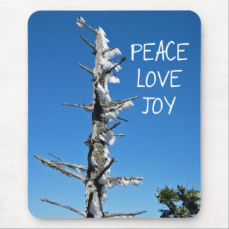 Peace Love Joy - Simple Holiday Wish Mouse Pad
