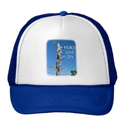 Peace Love Joy - Simple Holiday Wish Trucker Hat