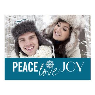 Peace Love Joy Sky Snowflake Holiday Postcards