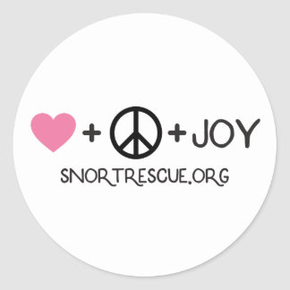Peace, Love & Joy Sticker