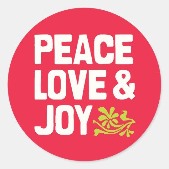 Peace Love & Joy Stickers