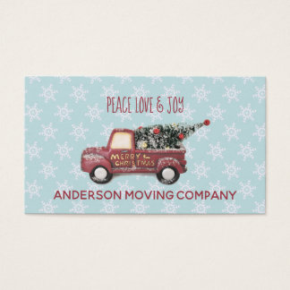 Peace Love & Joy Toy Truck Merry Christmas Business Card
