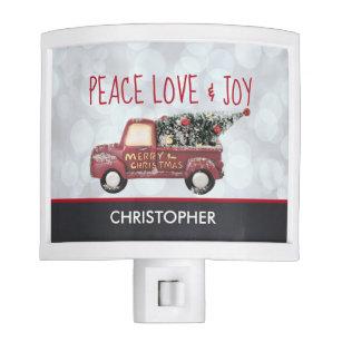 Peace Love Joy Toy Truck Merry Christmas Night Light