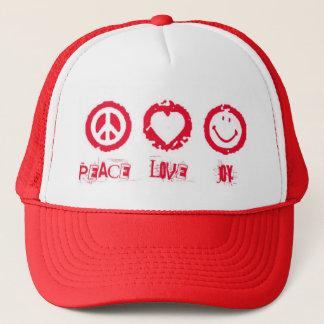 Peace Love Joy Trucker Hat
