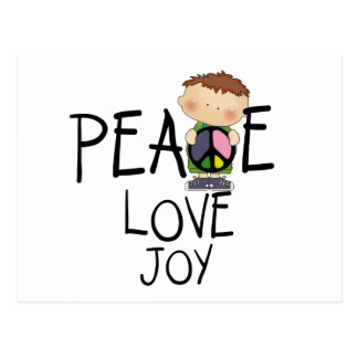 Peace Love Joy Tshirts and Gifts Postcard