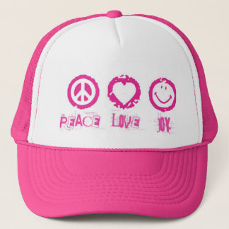 Peace Love Joy v2 Hat