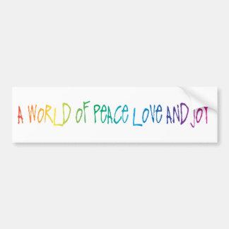 Peace, Love & Joy Words Bumper Sticker