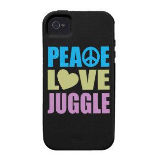 Peace Love Juggle iPhone 4 Case