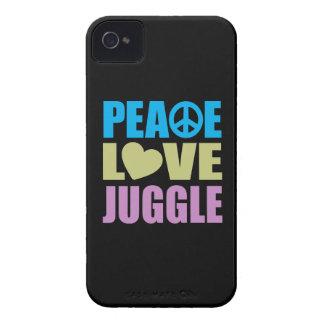 Peace Love Juggle iPhone 4 Case-Mate Case