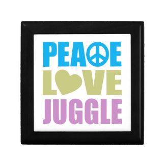 Peace Love Juggle Keepsake Box