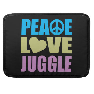 Peace Love Juggle Sleeve For MacBooks