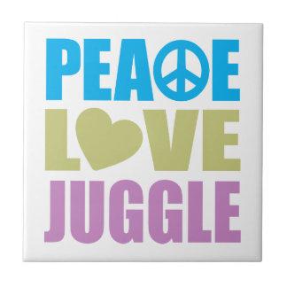 Peace Love Juggle Tile