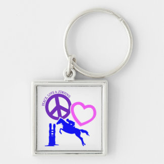 PEACE-LOVE-JUMPING KEYCHAIN