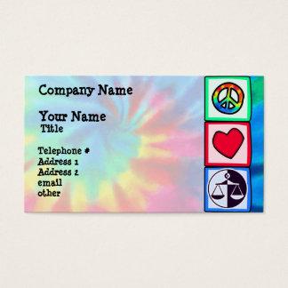 Peace, Love, Justice Business Card