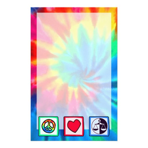 Peace, Love, Justice Customized Stationery