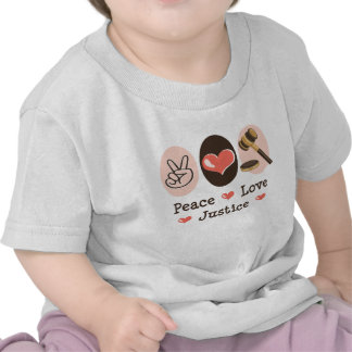 Peace Love Justice Judge Baby T shirt