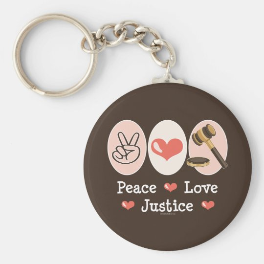 Peace Love Justice Key Chain
