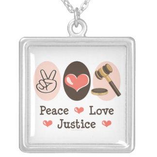 Peace Love Justice Necklace