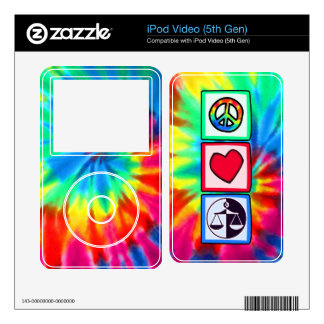 Peace, Love, Justice iPod Video Decals