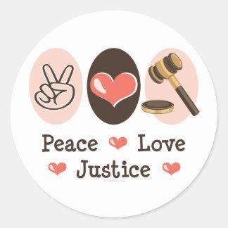 Peace Love Justice Sticker