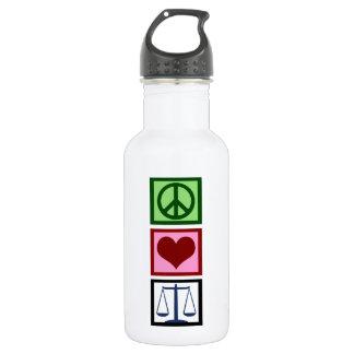 Peace Love Justice Water Bottle
