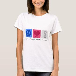Peace Love Juvenile Diabetes T-Shirt