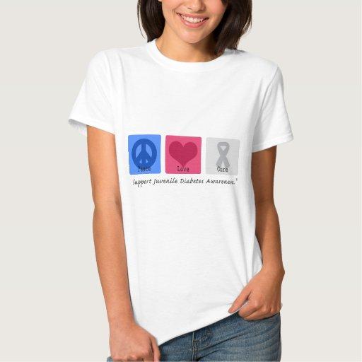 Peace Love Juvenile Diabetes Tshirts