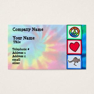 Peace, Love, Kangaroos Business Card