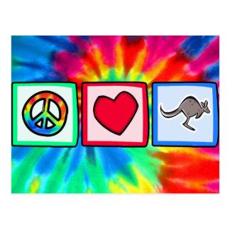 Peace, Love, Kangaroos Postcard