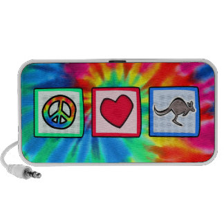 Peace Love Kangaroos Speaker