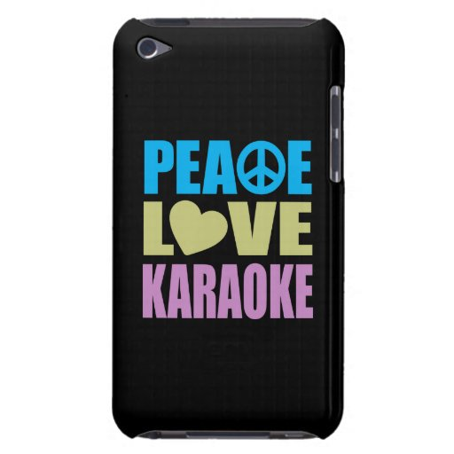Peace Love Karaoke Barely There iPod Covers