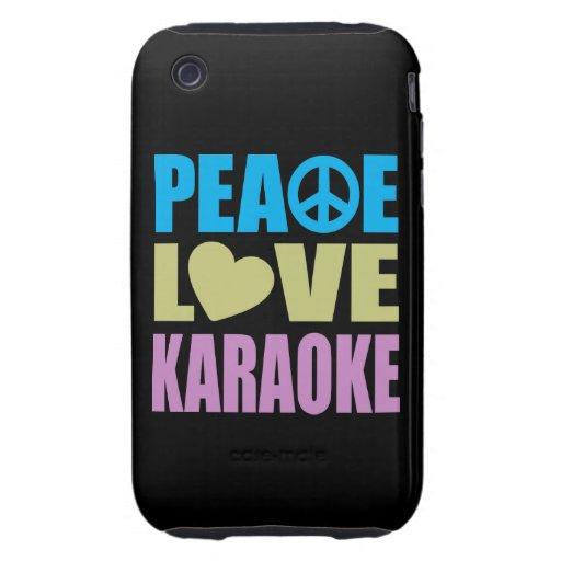 Peace Love Karaoke iPhone 3 Tough Cases