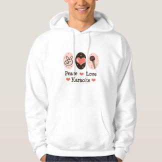 Peace Love Karaoke Hooded Sweatshirt