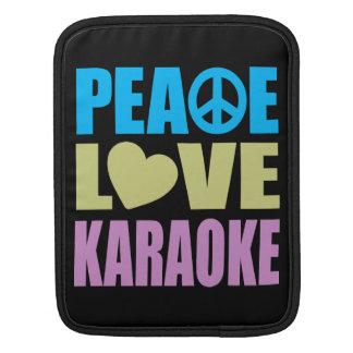 Peace Love Karaoke iPad Sleeves