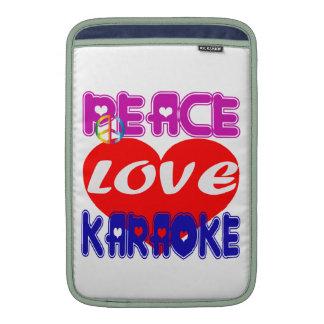 Peace Love Karaoke MacBook Air Sleeve